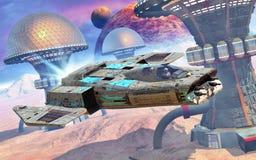 alien космос планеты самолет-истребителя Стоковая Фотография RF