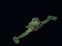 alien космос самолет-истребителя Стоковые Изображения