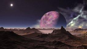 alien ландшафт сток-видео