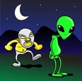 alien мексиканец против борца Стоковое фото RF