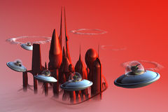 alien милые оккупанты немногая Стоковое фото RF