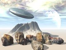 alien мир космоса корабля Стоковые Фото