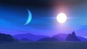 alien мир ландшафта Стоковое Изображение
