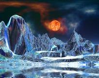 alien мир металла стоковое изображение rf