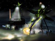 alien нападение Стоковые Изображения RF