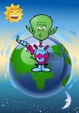 alien нашествие земли Стоковое фото RF