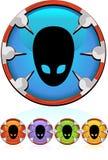 alien серия иконы Стоковые Изображения