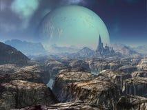 alien стародедовские руины города иллюстрация вектора