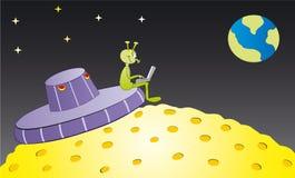 alien тетрадь Стоковое Изображение