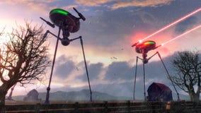 alien треноги Стоковое Изображение