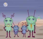 alien фото семьи Стоковая Фотография RF