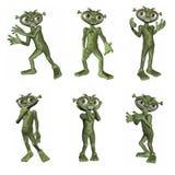 alien шарж Стоковые Фото