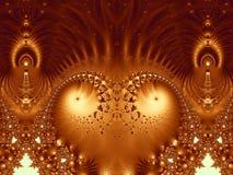 alien эксцентричный трон фрактали Стоковое фото RF