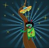 alien космический таксомотор Стоковое Изображение RF