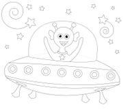 alien жизнерадостный космический корабль Стоковые Фото