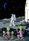 Alien. The unknown stranger. Vector illustration Royalty Free Stock Images