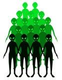 Alien. Green aliens illustrations isolated on white background Stock Image