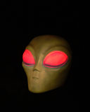 Alien. Head on Black stock illustration