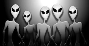 alien большие диаграммы нашествие глаз серого цвета Стоковое Фото