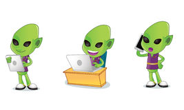3 alien διανυσματική απεικόνιση