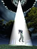 Alien abduction Stock Images