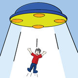 Alien abduction Stock Photography
