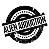 Alien Abduction rubber stamp Stock Photos