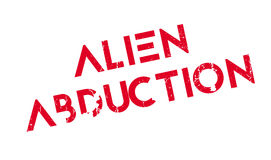 Alien Abduction rubber stamp Royalty Free Stock Photo