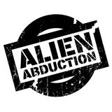 Alien Abduction rubber stamp Stock Images