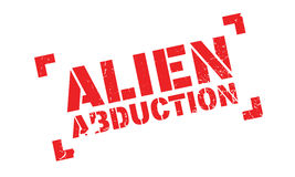 Alien Abduction rubber stamp. Grunge design with dust scratches. Effects can be easily removed for a clean, crisp look. Color is easily changed royalty free illustration