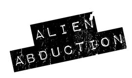 Alien Abduction rubber stamp Royalty Free Stock Image