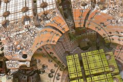 Alien abstract fractal. 3d rendering Stock Images