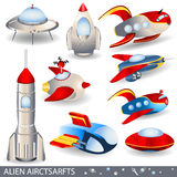 Alien aircraft Royalty Free Stock Photo