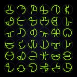 Alien Alphabet Vector Set Royalty Free Stock Images