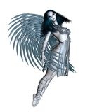 Alien Angel - 1. 3d Digitally rendered illustration of an alien angel with silver wings Royalty Free Stock Photos