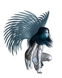 Alien Angel - 2. 3d Digitally rendered illustration of an alien angel with silver wings Royalty Free Stock Image