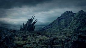 Alien Artifact On Barren Planet stock footage
