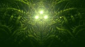 Alien astronaut illustration in genre of fiction royalty free illustration