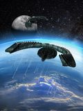 Alien attack stock illustration
