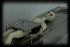 Alien autopsy 8 mm color version Royalty Free Stock Photos