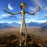 Alien with Background. 3D Render of an Alien with Background Royalty Free Stock Photos