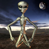 Alien with Background Royalty Free Stock Images