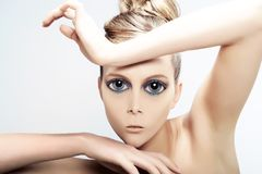 Alien Beauty - Beauty in Manga style.  royalty free stock photo