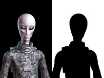 Alien being bust with alpha channel Stock Image
