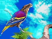 Alien Bird. An alien bird on a tree branch Stock Photos