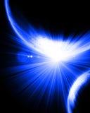 Alien blue planets Stock Photo