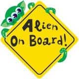 Alien on Board Stock Photography
