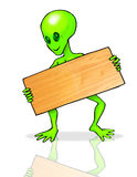 Alien with board Stock Photo