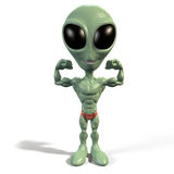 Alien body builder Royalty Free Stock Photo