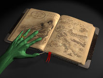 the alien with book  Royalty Free Stock Photo